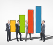 Business People Holding Bar Graph