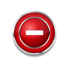 Minus Circular Vector Red Web Icon Button