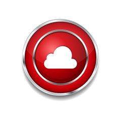 Cloud Circular Vector Red Web Icon Button