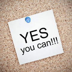 Yes you can on a bulletin board