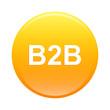 bouton internet B2B icon orange sign