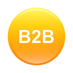 bouton internet B2B icon orange sign