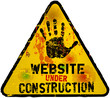 website under construction sign, grungy,vector