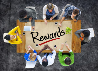 People in a Meeting and Single Word Rewards