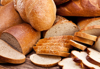 Bread. Food background.