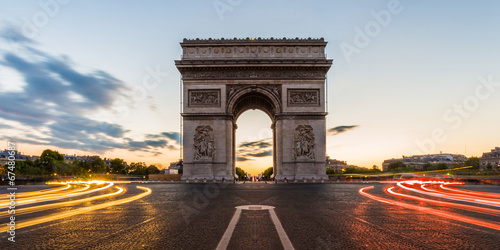 Fotobehang Standbeeld Arc de Triomphe Paris