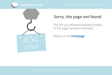 Craning a message about Page not found Error 404