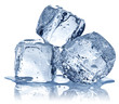 Three ice cubes on white background. - 67481050