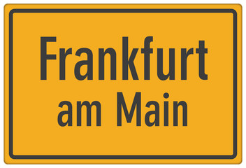 Schild Frankfurt am Main