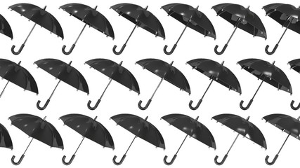 Many Black Umbrellas