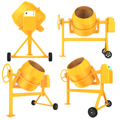 set concrete mixer