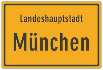 Schild Landeshauptstadt München