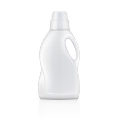 White bottle for liquid laundry detergent.