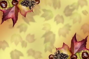 farbenprächtige Kollage Herbst mit Textfreiraum