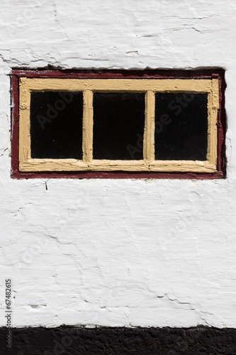 canvas print picture Rustikale Wand mit Fenster