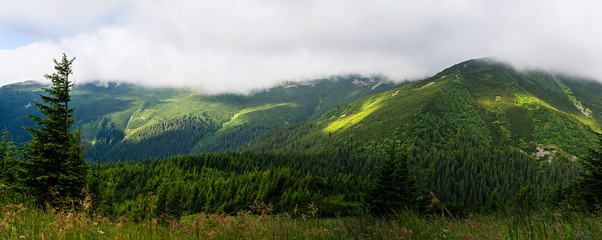 Panorama of the mountains.