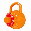 canvas print picture - Illustration of security concept with glossy locked combination