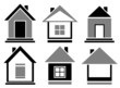 set cottage icons