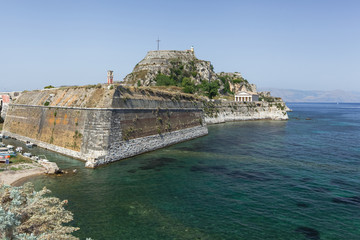 Old Byzantine fortress in Corfu, Greece