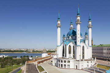 The Kul Sharif mosque in the Kazan Kremlin. Russia