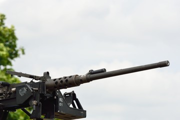 Large modern mounted machine gun