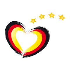 Deutschland Weltmeister 2014 - Herz und Sterne