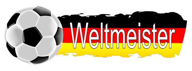 Fußball mit Deutschlandfahne Weltmeister
