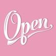 retro open sign