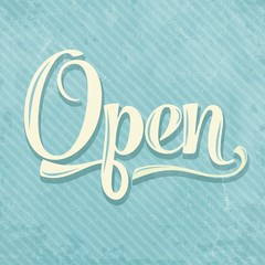 retro open sign