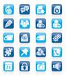 Internet blogging icons - vector icon set
