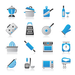 cooking tools icons - vector icon set