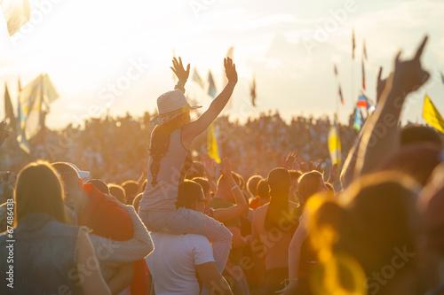 Leinwanddruck Bild Rock festival