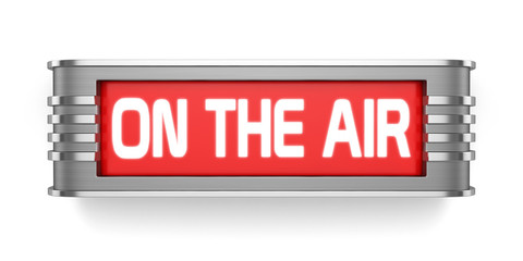 ON THE AIR sign