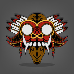 Steampunk Barong Bali illustration