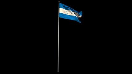 Honduras national flag waving on flagpole