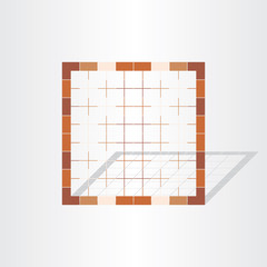 brown cage grid design element