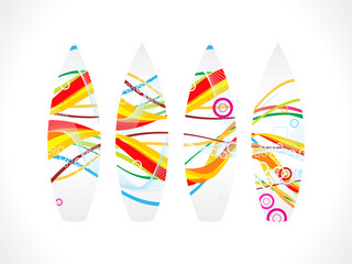 abstract colorful surf board
