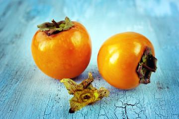 Fresh ripe persimmons