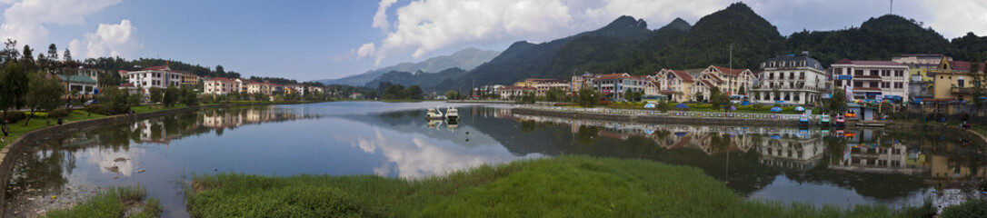 Lake in town centre in Sapa