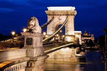 Ungarn, Budapest, Kettenbrücke.