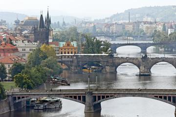 Prag Brücken über die Moldau