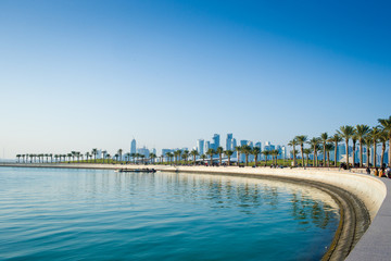 Park in central Doha Qatar