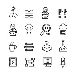 Web Development and Seo Icons