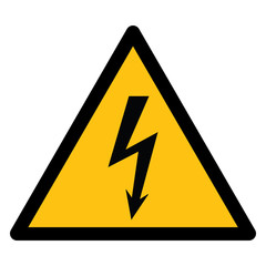 Warning sign, BEWARE HIGH VOLTAGE