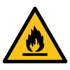 Warning sign, BEWARE FLAMMABLE
