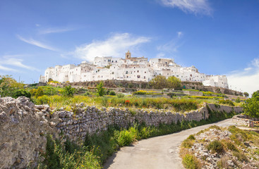 Panoramic view of Ostuni. Italy