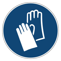 Mandatory action sign, Wear Hand Protection