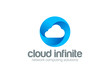 Web Cloud computing infinity network vector logo design icon