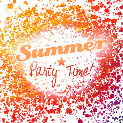 Vector grunge summer party background