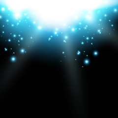 Vector shiny light flare background